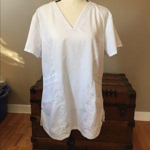 Grey's Anatomy Scrub Top XL White EUC